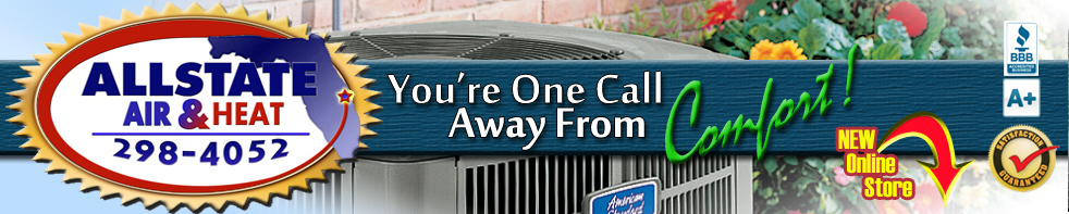 Allstate Air and Heat, Inc. - Servicing Melbourne, West Melbourne, Palm Bay, Viera, Suntree, Cocoa, Titusville, Merritt Island Florida and surrounding areas providing a/c repair and installation. Air Conditioning and Heat Contractor of Melbourne, FL. Home page.